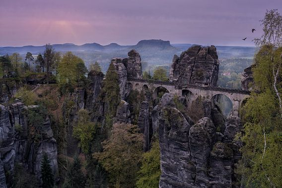 Sächsische Schweiz Bastei Rathen van Carina Buchspies