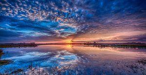 Sunset reflectie van