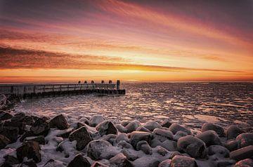 Zonsopkomst Afsluitdijk van Bjorn Renskers