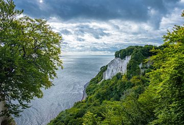 Krijtrotsen aan de kust van Rugen, Duitsland van