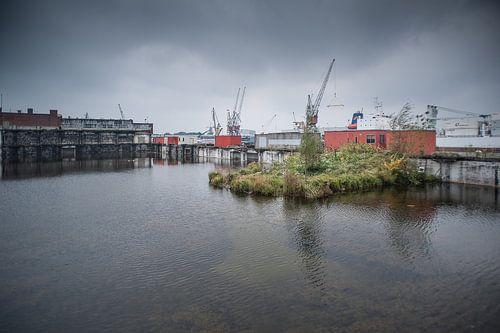 Radiostraat,havengebied Rotterdam van