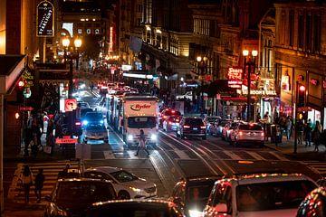 Avond in San Fransisco van Keesnan Dogger Fotografie
