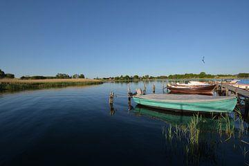 Vissersvaartuigen Wreecher See - Putbus op het eiland Rügen van GH Foto & Artdesign