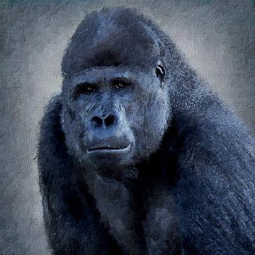 Porträt eines Gorillas (Gemälde) von Art by Jeronimo