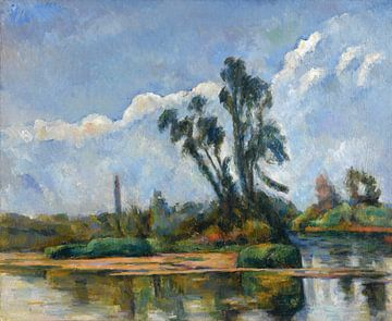 Paul Cézanne, la rivière, 1881 van Atelier Liesjes
