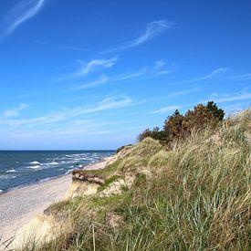 Sur la côte escarpée sur Ostsee Bilder