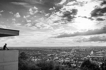 Blick über Karlsruhe vom Turmberg aus von Evelien Oerlemans