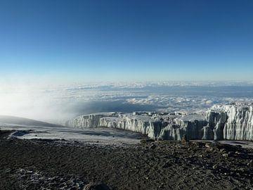Gletsjer op de Kilimanjaro van Dempsey Cappelle