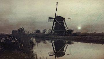 Landschaft mit Windmühle von eric van der eijk