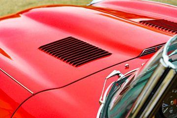 Jaguar E-Type Roadster motorkap louvres detail van Sjoerd van der Wal