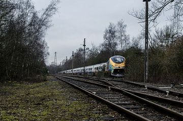 Verlaten Eurostar-trein (Urbex) van Willem van den Berge