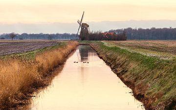 De Groote Polder molen in Slochteren van Marga Vroom