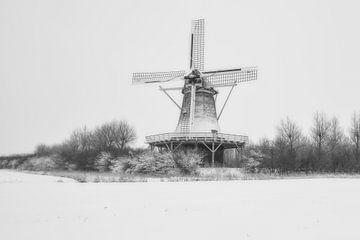 molen de hoop in de winter