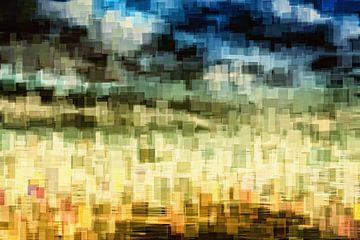 Zeegezicht blokken van Jan Brons