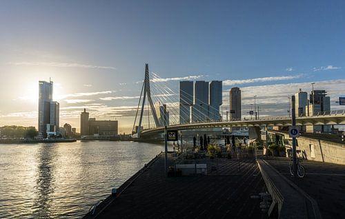 Rotterdam bij zonsopgang