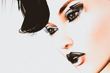 Second Life - Close-up of woman face sur Natasja Tollenaar