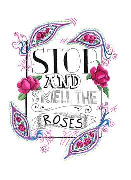 Bleiben Sie stehen und riechen Sie an den Rosen von Ivonne Wierink
