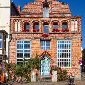 Historische Hausfassade  Am Stintmarkt, Altstadt, Lüneburg, Niedersachsen, Deutschland, Europa von Torsten Krüger