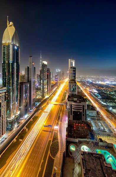 Sheikh Zayed Road Dubai van Rene Siebring