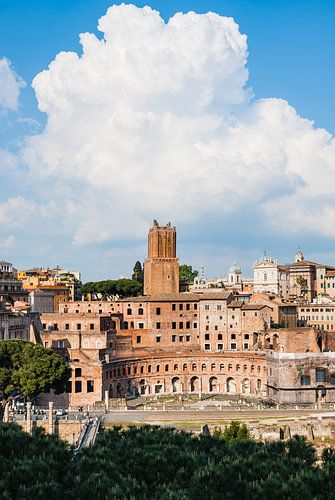 Vervallen bouwwerken van het oude  Rome