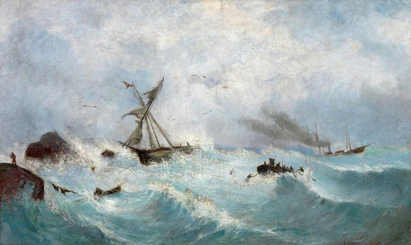 Karol Rafalowicz~Storm dans la mer Noire sur finemasterpiece