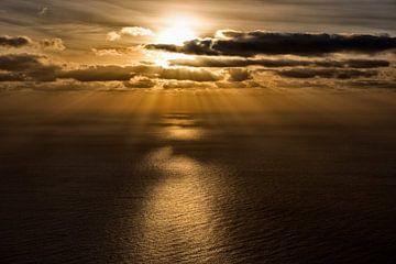 Zonsondergang over de Atlantische Oceaan van Angelika Stern