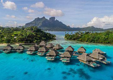Overwater villa's op Bora Bora van