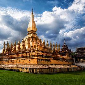Pha That Luang, Vientiane, Laos van Giovanni della Primavera