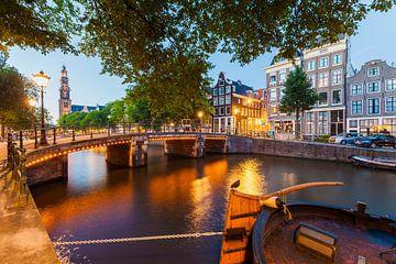 Prinsengracht à Amsterdam le soir sur Werner Dieterich