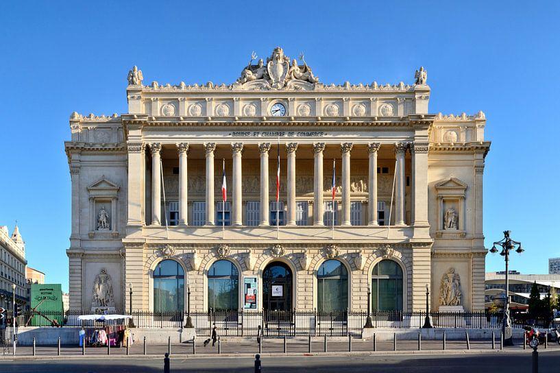 Het Palais de la Bourse in Marseille van Panorama Streetline