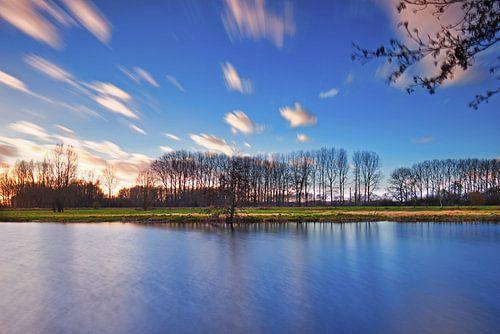 Zonsondergang vijver van Wim van D