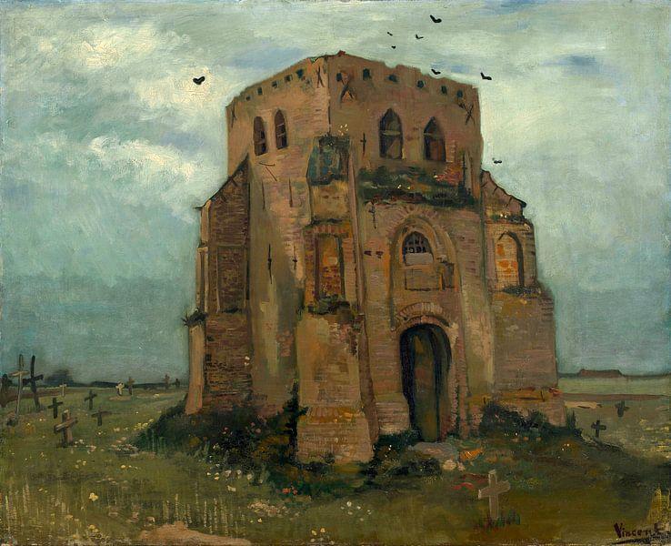 Vincent van Gogh, De oude kerktoren te Nuenen van 1000 Schilderijen