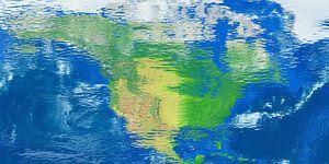 Waterspiegelkaart Noord-Amerika van