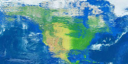Carte de réflexion de l'eau Amerique du Nord sur