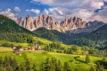 Bergpanorama im Villnösstal in den Dolomiten von Voss Fine Art Photography
