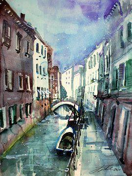 Venedig, Rio de San Maurizio von Johann Pickl