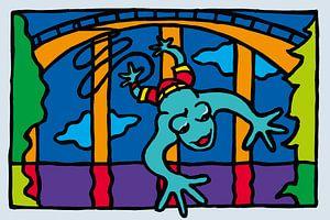 Bungee-Jumping frosch