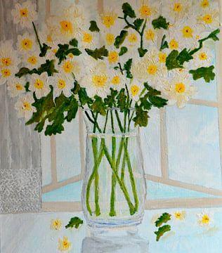 window flowers 01 van Aat Kuijpers