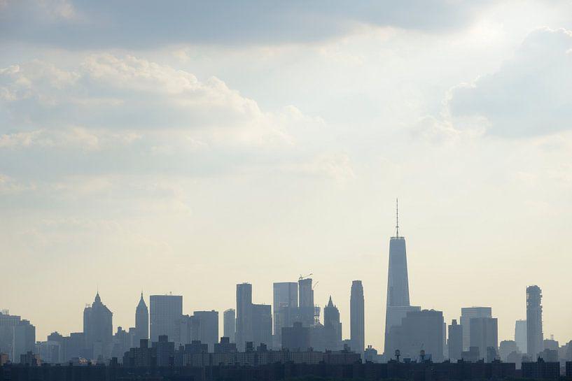 Manhattan Skyline in New York van Merijn van der Vliet