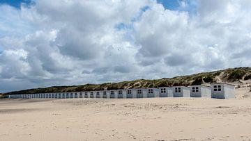 Strandhuisjes Texel  van Guus Quaedvlieg