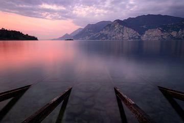 Sonnenaufgang am Gardasee von Severin Frank Fotografie
