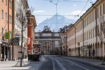 Lege straten van Innsbruck, Oostenrijk van Hidde Hageman