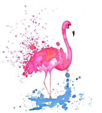 Flamingo van Jolanda Berbee