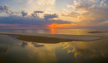 Zonsondergang bij de Slufter van Patrick van Oostrom