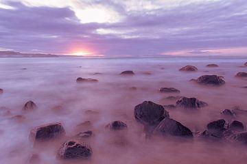 Zonsondergang in Noord-Ierland van