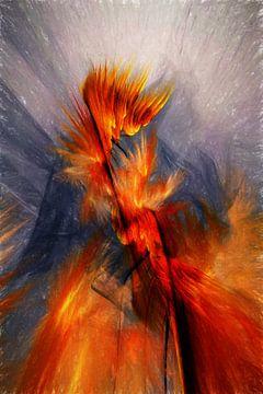 blazing flames van Dagmar Marina