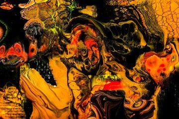 Acryl kunst 1957 von Rob Smit