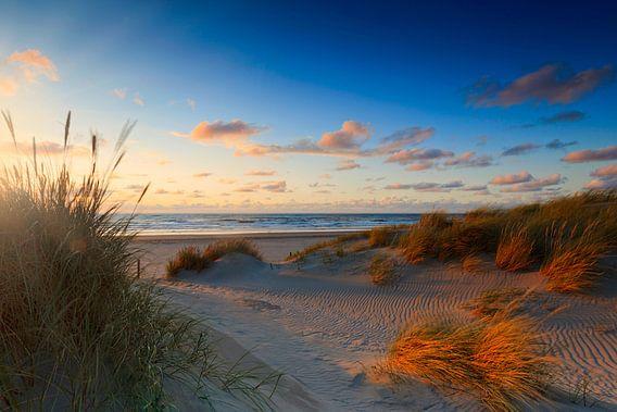 zonsondergang achter de Hollandse duinen van gaps photography