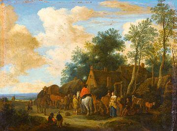 Halte dans une auberge au bord de la route, Pieter de Molijn sur