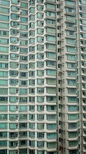 Residential tower on Lantau Island, near Hongkong van
